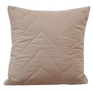 DomTextilu Béžové obliečky na vankúše s prešívaním 50x60 cm 7574-104911