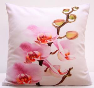 DomTextilu Biele obliečky na vankúše s ružovou orchideou 40x40 cm 3174-124179