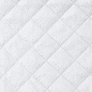 DomTextilu Biely kvalitný jednofarebný plyšový prehoz Šírka: 170 cm | Dĺžka: 210 cm 31421-161119