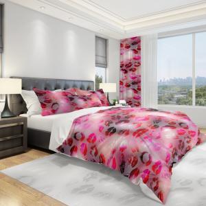 DomTextilu Červená posteľná obliečka s motívom dámskych pier 140x200 cm   Šírka: 140 cm   Dĺžka: 200 cm 11796-165996