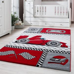 DomTextilu Červený koberec do chlapčenskej izby formula 42006-197355