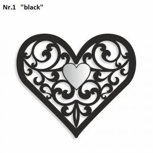 DomTextilu Dekorácia na stenu v tvare srdca  Výška 20 cm Šírka 17 cm Hrúbka 3 mm 9139-24996