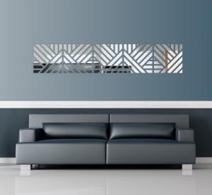 DomTextilu Dekoračné nalepovacie zrkadlá v modernom dizajne 8016