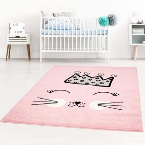 DomTextilu Detské koberce pre dievčatá ružovej farby s roztomilou mačikou 42041-197481