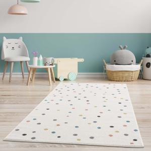 DomTextilu Detský koberec krémový s farebnými bodkami 42042-197482