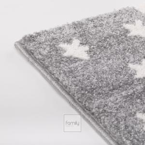 DomTextilu Detský sivý koberec pre dievčatko mačička 42015-197381