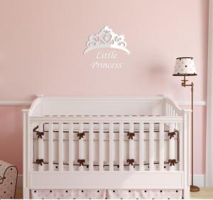 DomTextilu Dievčenské dekoračné zrkadlo Little princess 8042