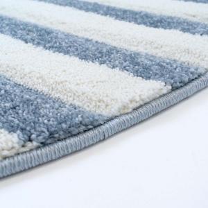 DomTextilu Fenomenálny bielo modrý okrúhly koberec námornícke kormidlo 41720-197002