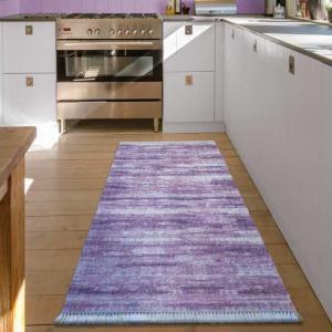 DomTextilu Fialový koberec do kuchyne so strapcami 12739-37497