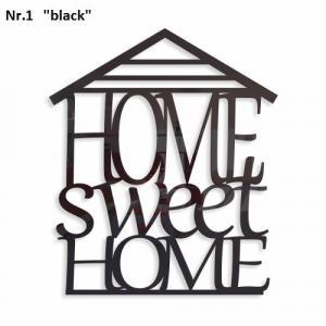 DomTextilu Home sweet home dekoračný nápis na stenu Výška 40 cm Šírka 34 cm Hrúbka 3 mm 9146-25046