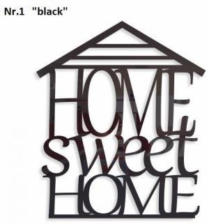DomTextilu Home sweet home dekoračný nápis na stenu Výška 40 cm Šírka 34 cm Hrúbka 3 mm 9146-25058