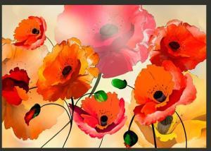 DomTextilu Krásna 3D fototapeta s kvetmi vlčí mak  350 x 245 cm 14775-190091