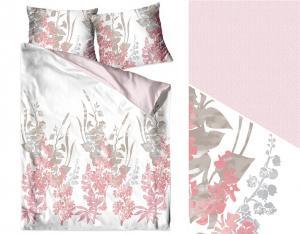 DomTextilu Krásne bavlnené posteľné obliečky s motívom ružových rastlín 3 časti: 1ks 200x220 + 2ks 70 cmx80 Ružová 32748-163145