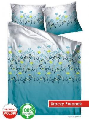 DomTextilu Krásne bielo modré posteľné obliečky s motívom lúčnych kvetov 3 časti: 1ks 160 cmx200 + 2ks 70 cmx80 Modrá 70 x 80 cm 33375-164213