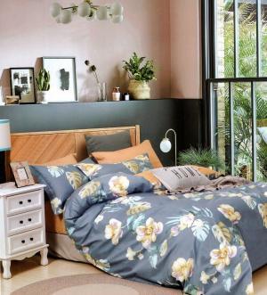 DomTextilu Krásne modré posteľné obliečky s motívom pestrých kvetov 2 časti: 1ks 140 cmx200 + 1ks 70 cmx80 Modrá 70 x 80 cm 36940-176564