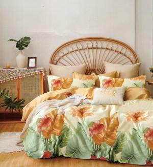 DomTextilu Krásne obojstranné bavlnené krémové posteľné obliečky s motívom listov 3 časti: 1ks 160 cmx200 + 2ks 70 cmx80 krémová 70 x 80 cm 36934-176532