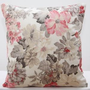 DomTextilu Krémové ozdobné obliečky na vankúš s kvetinovým vzorom 40x 40 cm 5911-124482
