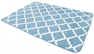 DomTextilu Kvalitné koberce v modrej farbe do spálne 140 x 200 cm 10529
