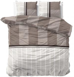 DomTextilu Kvalitné posteľné obliečky v hnedej farbe 180 x 200 cm 21021