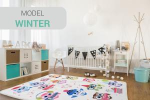 DomTextilu Kvalitný koberec do detskej izby s motívom sovičiek 140 x 200 cm 10101