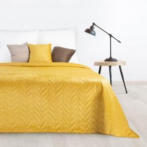 DomTextilu Kvalitný obojstranný prehoz na posteľ v žiarivej žltej farbe Šírka: 70 cm | Dĺžka: 160 cm 29825-166392