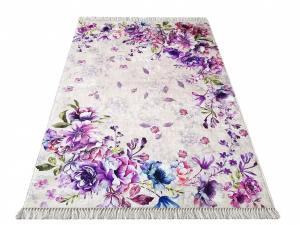 DomTextilu Kvetinový koberec v odtieňoch fialovej farby 19705-179588