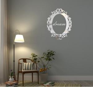 DomTextilu Luxusné zrkadlo s nápisom dream 8024