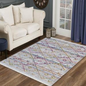DomTextilu Luxusný krémovo biely koberec s farebným vzorom 39662-183526