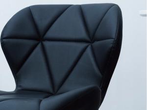 DomTextilu Moderné kreslo s pevnou konštrukciou v čiernej farbe 14635