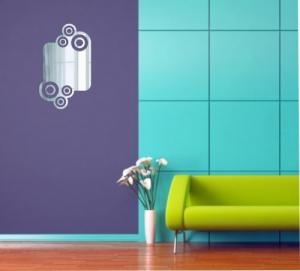 DomTextilu Moderné nerozbitné zrkadlo ako dekorácia 8110