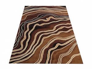 DomTextilu Moderný hnedý koberec s abstraktným motívom 40348-185066
