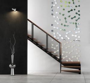 DomTextilu Nalepovacie dekoračné zrkadlá na stenu 7975