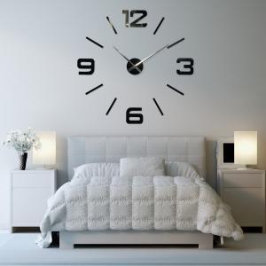 DomTextilu Nalepovacie nástenné hodiny 11141