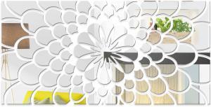 DomTextilu Nástenné zrkadlá kvet 11143