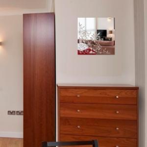 DomTextilu Nerozbitné dekoratívne zrkadlo štvorcové 8109