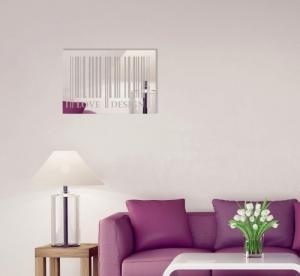 DomTextilu Obdĺžnikové dekoračné zrkadlo I love design 8013