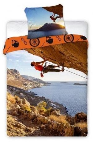 DomTextilu Obliečky 3D horolezec Šírka: 160 cm | Dĺžka: 200 cm Oranžová 11107-30468