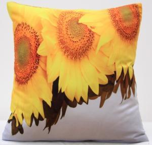 DomTextilu Obliečky na vankúše bielej farby s motívom slnečníc 40x40 cm 4162-124184