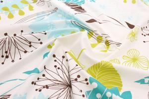 DomTextilu Obojstranné posteľné obliečky bielo modré s motívom rozkvitnutých púpav 3 časti: 1ks 160 cmx200 + 2ks 70 cmx80 Biela 140x200 cm 15172-101720