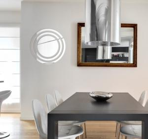 DomTextilu Okrúhle dekoračné zrkadlo v modernom dizajne 8026