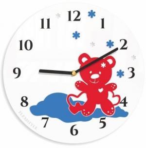 DomTextilu Okrúhle hodiny do detskej izby s medvedikom 8810-24389