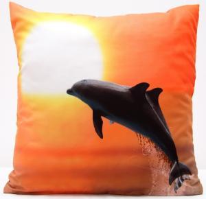 DomTextilu Oranžové obliečky na vankúše s delfínmi 40x40 cm 4164-124186