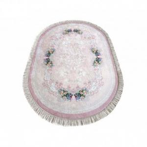 DomTextilu Oválny protišmykový koberec v ružovej farbe 41833-197203