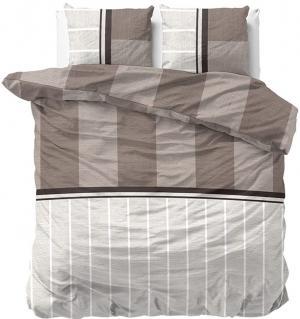 DomTextilu Posteľná obliečka v bielo hnedej farbe 200 x 220 200 x 220 cm 20939
