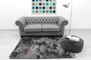 DomTextilu Príjemné ombre plyšové koberce sivej farby 120 x 170 cm 9782