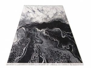 DomTextilu Protišmykový koberec sivej farby s abstraktným vzorom 23934-143433
