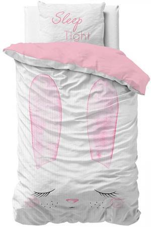 DomTextilu Roztomilé detské bavlnené posteľné obliečky SLEEP BUNNY 140 x 200 cm 38844