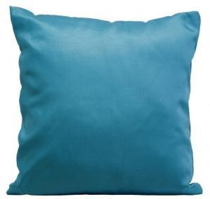 DomTextilu Saténová dekoračná obliečka na vankúš tyrkysovej farby 40x40 cm Tyrkysová 10114-111160