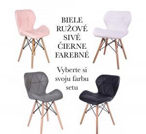 DomTextilu Set štyroch škandinávskych stoličiek RUŽOVÉ 14958-100945