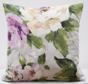 DomTextilu Sivé dekoračné obliečky na vankúšik 40x40 s kvetinovým vzorom 40x 40 cm 5837-124474